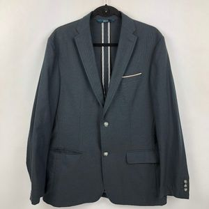 PERRY ELLIS Men's Slim Fit Blazer sport coat BLUE